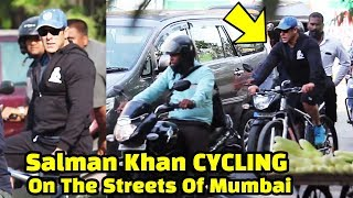Salman Khan RISK His Life | CYCLING PUBLICLY On Streets Of Mumbai