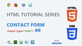 HTML Tutorial for beginners to Advance  #6 || Contact Us from in HTML