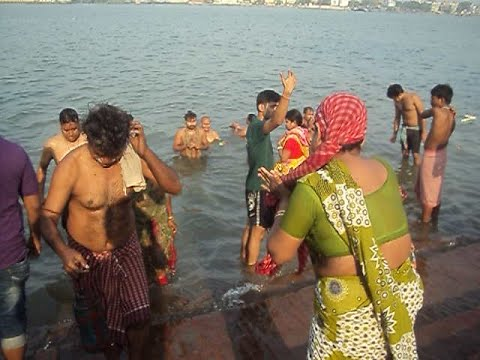 Holy And Hot River Bath At The Ganges....