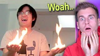 Guy Creates Fire With Bare Hands!! (IMPOSSIBLE)