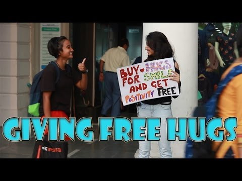 GIVING FREE HUGS AND POSITIVITY ( Ft. The Funkyites ) | Crazy Duksh