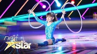 Număr impresionat de acrobație la Next Star. Denisa Pedolu ridică scena în picioare