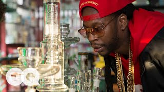 2 Chainz Smokes Out of a $10,000 Bong | Most Expensivest Shit | GQ