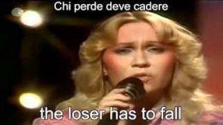 ABBA-The Winner Takes It All Live 1980 ( Lyrics + traduzione ).avi