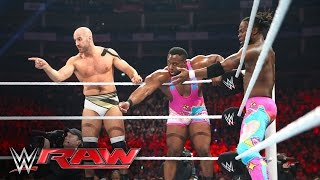 Cesaro & The New Day vs. The Miz & The League of Nations: Raw, April 18, 2016