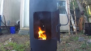 Making an air compressor tank wood stove / fireplace