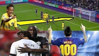 GOLAZO de NEYMAR al estilo Ronaldinho | Messi marca su GOL 100 en UCL | LUKAKU consuela al RIVAL