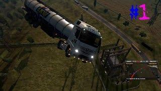 حوادث مضحكه جدا اون لاين Euro Truck Simulator 2