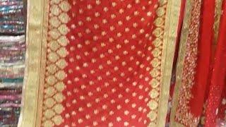 ভালোবাসা দিবসে কম টাকায় লাল শাড়ী//Red saree on Valentineday at lowest price/Whole sale retai market