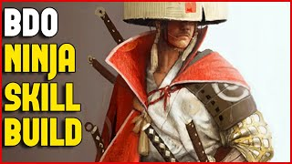 Black Desert Ninja Skill Build After LvL 56 and Basic Combos 2K HD
