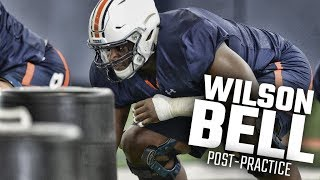 Auburn offensive guard Wilson Bell discusses his acclimation process