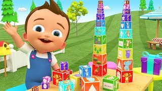 Little Baby Fun Play Learning Colors & Numbers Animals with Puzzle Box Surprise Gifts Toys 3D Kids