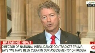 """Rand Paul """"The Election Was About Hillary Clinton Being Unfit For Office! Being A Dishonest Person!"""""""