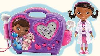 Disney Jr. DOC MCSTUFFINS Boom Box, Sound, Music Sing Song, HUGE Doll Set, Pet Toys Carrier TUYC