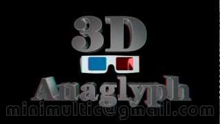 Domino 3D. Movie Official. Stereo Glasses. Red Cyan.