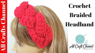 Download How to Crochet braided headband 3Gp Mp4