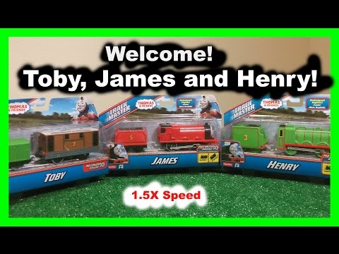 Welcome Thomas and Friends Toby James and Henry 1.5x speed helium style