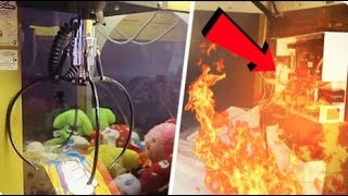 MY CLAW MACHINE CATCHES ON FIRE!!!!!
