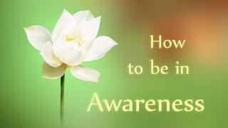 Awareness, the Present Moment