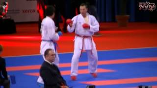 Loria vs Araga - Male kumite -84 kg - 21st WKF World Karate Championships Paris Bercy 2012