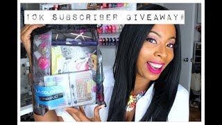 (CLOSED) 10K SUBSCRIBERS MILESTONE CELEBRATION | GIVEAWAY # 3 | BEAUTY BAG!!