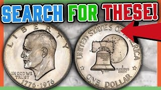 RARE EISENHOWER DOLLAR COINS WORTH MONEY - VALUABLE SILVER DOLLARS!!