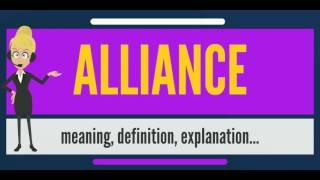 What is ALLIANCE? What does ALLIANCE mean? ALLIANCE meaning, definition, explanation & pronunciation