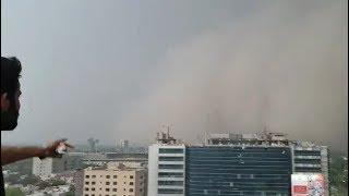 Dust storm in Lahore, Pakistan - june 6, 2018
