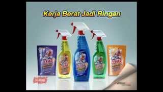 TVC Mr MUSCLE glass cleaner 2011.