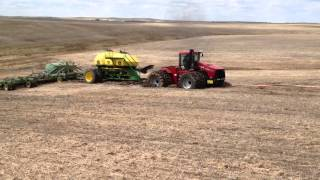 Case IH 535 Stuck With Air Seeder