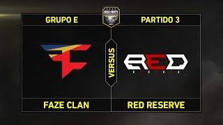 Grupo E: FAZE CLAN vs RED RESERVE #CoDChampsLVP2