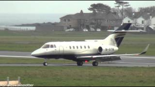 1080p HD 45 Minutes of Arrivals And Departures At Ronaldsway Isle of Man Airport