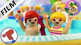 بلايموبيل فيلم| جوليان وهانا يفوزون بالبرونزية فى مسابقة السباحة الشيرسة ! اسرة الطيور