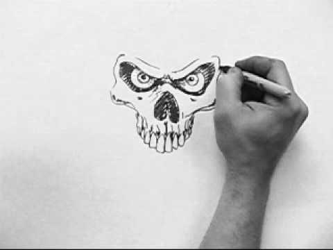 Skull Speed Drawing dirtdesignsgraphic
