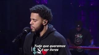 J Cole - Be Free Live    David Letterman (Legendado)