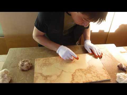 Como hacer falsos acabados imitaci n marmol lidia - Pintura imitacion piedra ...