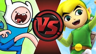 FINN (Adventure Time) vs TOON LINK! Cartoon Fight Club Episode 95!