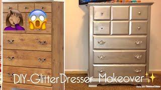 DIY Glitter Dresser Makeover