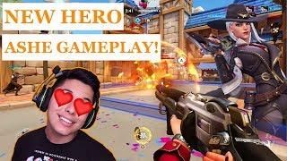 [ASMR] OVERWATCH - New Hero Ashe Gameplay!