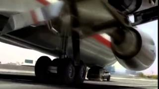 Funny airplane landing on highway high quality   Must watch