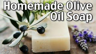 Making Homemade Luxury Olive Oil Soap