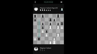 Magnus Carlsen vs. Himself at 20 on the Play Magnus Chess App