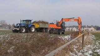 Ditch cleaning | Doosan | New Holland T7 | Sloten maaien | J.Bouw Beek en Donk
