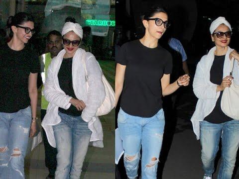 Xxx Mp4 Rekha Looks Hotter Than Deepika Padukone At The Mumbai Airport 3gp Sex