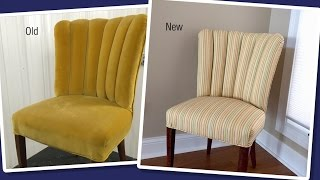 Reupholstering a Channel Back / Fluted Back Chair