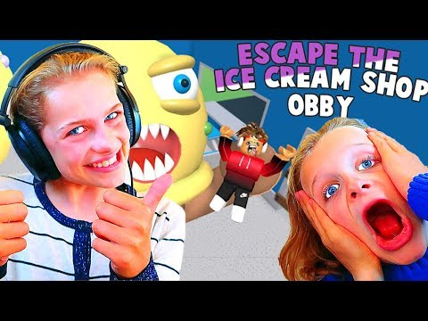 PLAYING ROBLOX WITH OUR SUBSCRIBERS Escape the Ice Cream Obby