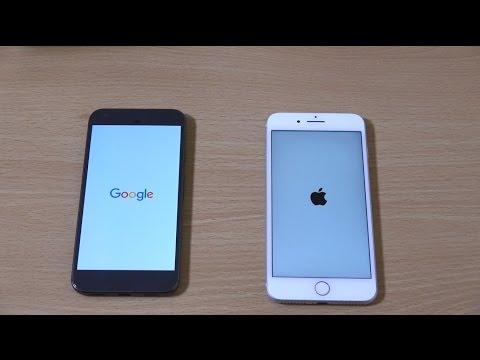 Google Pixel XL vs iPhone 7 Plus - Speed & Camera Test!