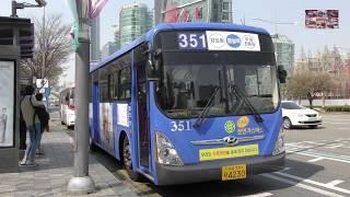 Buses in seoul South Korea  서울의 버스