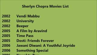 Sherlyn Chopra Movies List
