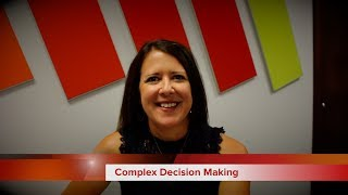 Complex Decision Making - Video Tips from Lona Smart at Revela